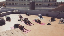 Yoga at a Hotel